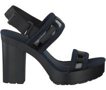 Schwarze Calvin Klein Sandaletten LALITA PATENT/MESH