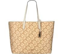 Shopper Shopper W / Laptop Pouch Raffi Beige Damen