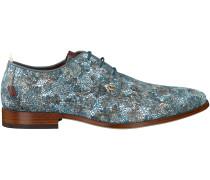 Blaue Rehab Business Schuhe GREG CRACK