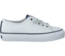 Weisse Sperry Schnürschuhe SKY SAIL LEATHER