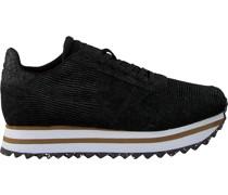 Woden Sneaker Low Ydun Pearl Ii Plateau Schwarz Damen