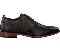 Rehab Business Schuhe Greg Croco Verniz Braun Herren