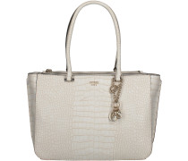 Weisse Guess Handtasche TRYLEE LARGE SOCIETY SATCHEL