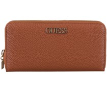 Guess Portemonnaie Alby Slg Large Zip Around Cognac Damen