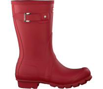 Hunter Gummistiefel Womens Original Short Rot Damen
