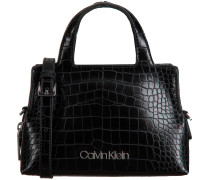 Calvin Klein Handtasche Neat Croc Tote Mini Schwarz Damen