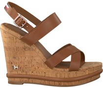 Tommy Hilfiger Sandalen Corporate Wedge Cognac Damen