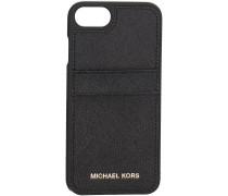 Schwarze Michael Kors Handy-Schutzhülle PHN COVER W PKT7 LTR