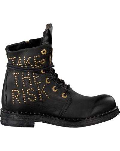 Schwarze Replay Biker Boots Rl260052L Stake