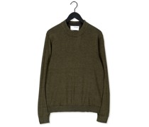Pullover Slhbrady Ls Knit Mock Neck B Grün Herren