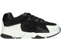 Sneaker Low Sneaker Material Mix Schwarz