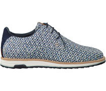 Blaue Rehab Business Schuhe NOLAN CHECKER