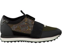 Khaki Lola Cruz Sneaker DEPORTIVO BRILLO ESTRELLAS