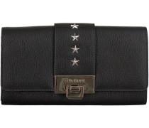 Schwarze Supertrash Portemonnaie STAR WALLET