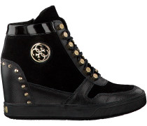 Schwarze Guess Wedge Sneaker FLLAN3 SUE12