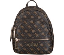 Guess Rucksack Manhattan Small Backpack Braun Damen