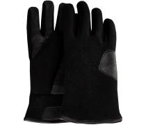 UGG Handschuhe Fabric And Leather Glove Schwarz Herren