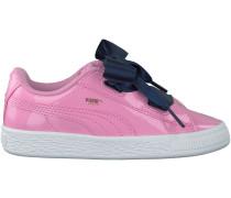 Rosa Puma Sneaker BASKET HEART PATENT KIDS
