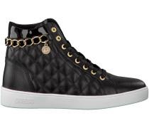 Schwarze Guess Sneaker FLGER3 LEA12