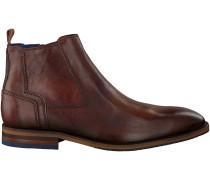 Cognac Braend Ankle Boots 24703