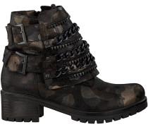 Metallic silberne Omoda Biker Boots 1829