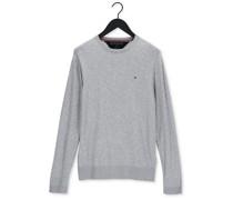Pullover Core Cotton-silk Cneck Grau Herren