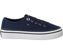 Blaue Tommy Hilfiger Sneaker CORPORATE FLATFORM SNEAKER