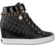 Schwarze Guess Wedge Sneaker FLFUR3 LEA12