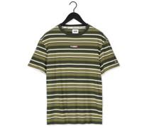 T-shirt Tjm Centre Graphic Stripe Tee Olive Herren