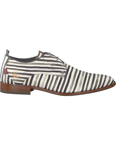 Weiße Rehab Business Schuhe Greg Stripes Liz