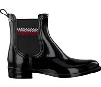 Tommy Hilfiger Stiefeletten Corporate Rainboot Schwarz Damen