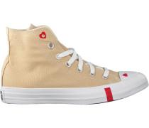 Converse Sneaker High Chuck Taylor As Love Beige Damen