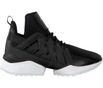 Schwarze Puma Sneaker MUSE ECHO SATIN WMN