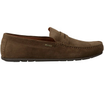 Braune Tommy Hilfiger Mokassins CLASSIC SUEDE PENNY LOAFER