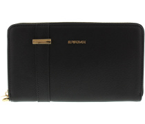 Schwarze Supertrash Portemonnaie LOUISA WALLET