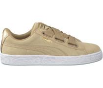 Beige Puma Sneaker SUEDE HEART SATIN