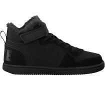 Schwarze Nike Sneaker COURT BOROUGH MID (KIDS)