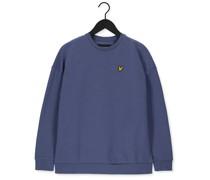 Sweatshirt Oversized Sweatshirt Blau Damen