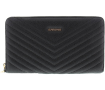 Schwarze Supertrash Clutch ALETHEA QUILTED