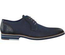 Blaue Braend Business Schuhe 15113
