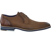 Cognac Braend Business Schuhe 15113