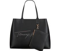 Tommy Hilfiger Shopper Iconic Tote Signature Schwarz Damen