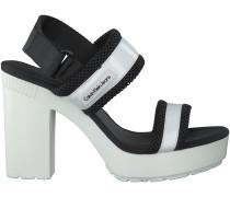 Weiße Calvin Klein Sandaletten LALITA PATENT/MESH