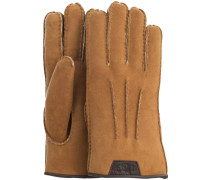 Cognac UGG Handschuhe CASUAL GLOVE WITH LEATHER LOGO