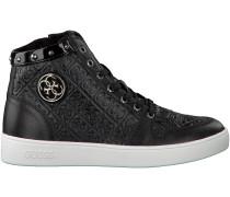 Schwarze Guess Sneaker FLGEN3 PAT12