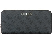 Guess Portemonnaie Alby Slg Large Zip Around Grau Damen