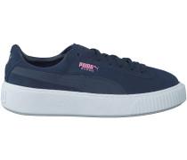 Blaue Puma Sneaker SUEDE PLATFORM JR