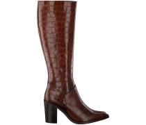 Notre-V Hohe Stiefel Ah183 Forma 802418 Fondo Tacco Cognac Damen