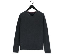 Pullover Core Cotton-silk Vneck Grau Herren
