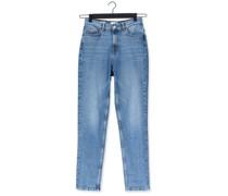 Slim Fit Jeans Slfamy Hw Slim Chambly Blu Jea Hellblau Damen